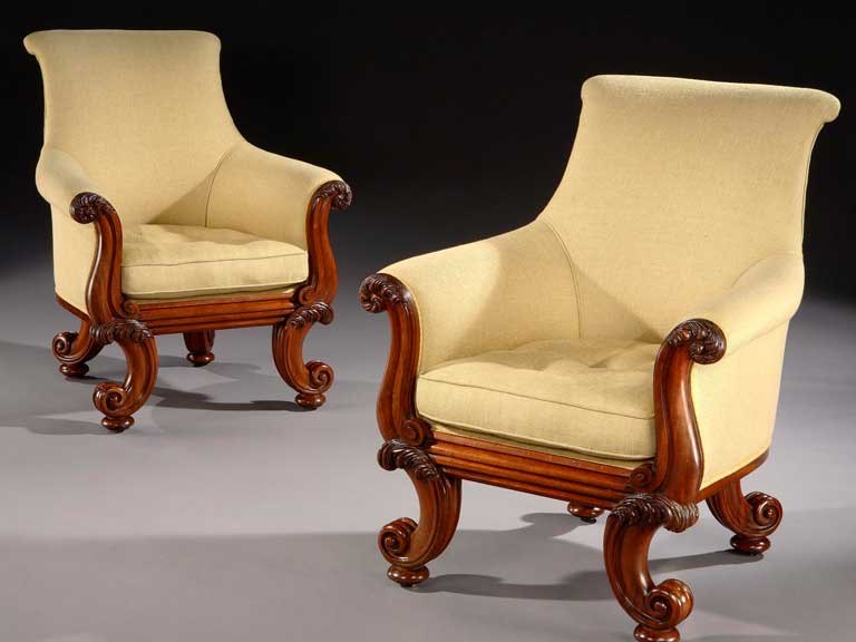 Pair-GIV-Armchairs-attributed-to-Gillows