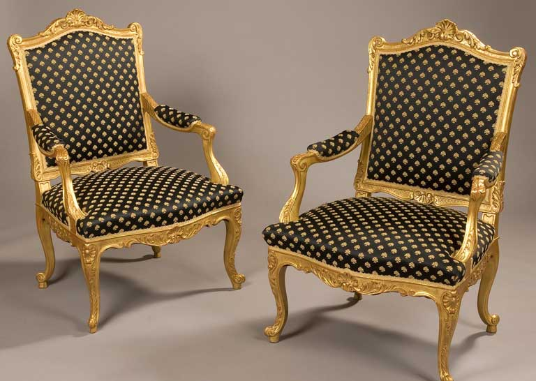 pair of giltwood chairs
